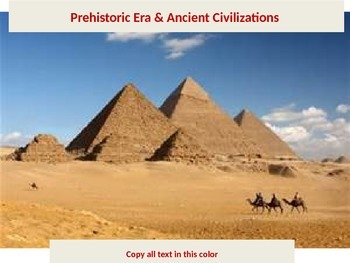 The Complete Early Civilizations Power Point Unit
