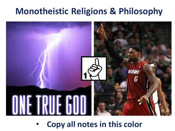 The Complete Early Monotheistic Religions PowerPoint Unit