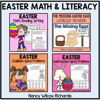The Complete Easter Bundle - Math and Literacy for K-2