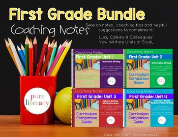 The Complete First Grade Writing Curriculum Companion Guide Bundle