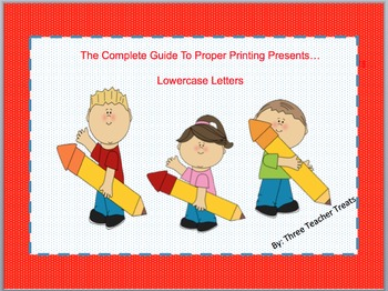 The Complete Guide to Properly Printing Lowercase Letters - in French