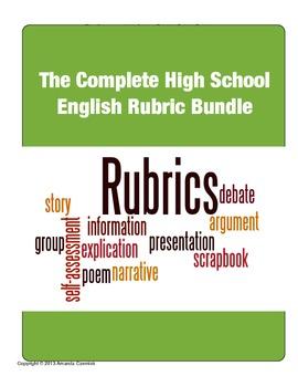The Complete High School English Rubric Bundle