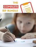 The Complete IEP Bundle- Distance Learning/Face to Face Co