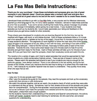 The Complete La Fea Más Bella (Spanish telenovela comprehension)