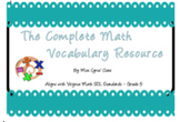 The Complete Math Vocabulary Resource ~ Aligns with Virgin