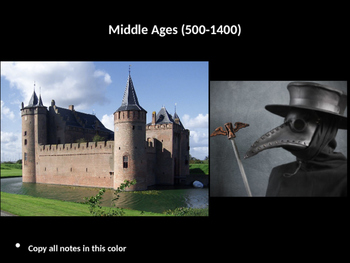 The Complete Middle Ages/Dark Ages PowerPoint Unit