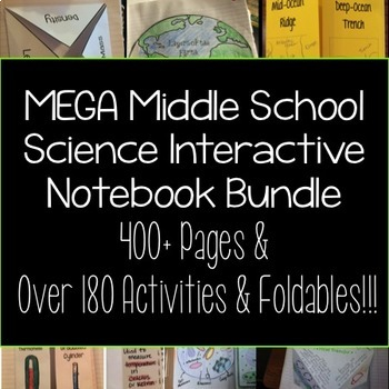 Science Interactive Notebook Foldable MEGA BUNDLE
