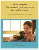 The Complete Montessori Language Arts Teacher's Manual–PDF