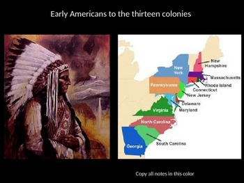The Complete Native Americans to Colonial America Power Point Unit