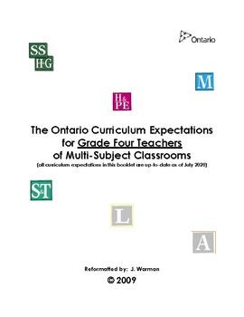 The Complete Ontario Curriculum for Grade Four Teachers
