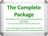 The Complete Package - 183 American History PowerPoints, N