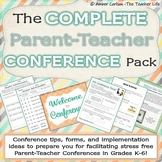 The Complete Parent Teacher Conference Pack for Grades K-6 {Editable}