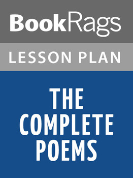 The Complete Poems Lesson Plans