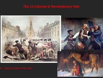 The Complete Powerpoint Unit on the American Colonies & th