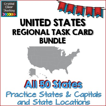 The Complete Regions of the United States Task Card Sets Bundle