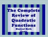 Quadratic Equations graphing and solving Math Centers