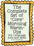 """The Complete Set of """"Core"""" Morning Warm-Ups for the School Year"""