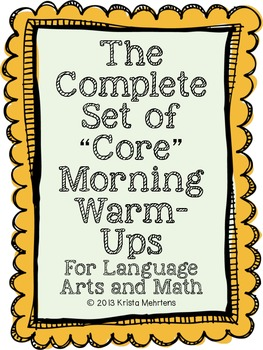 "The Complete Set of ""Core"" Morning Warm-Ups for the School Year"