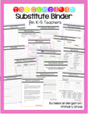 The Complete *EDITABLE* Substitute Teacher Binder for Elem