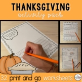 The Complete Thanksgiving Work Packet