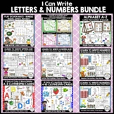 I CAN WRITE!  Letters Aa-Zz, Numbers #1-20 - Handwriting Bundle (PK - K, SPED)