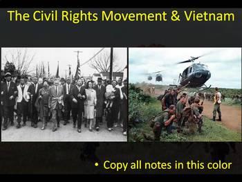 The Complete U.S. Civil Rights Movement & Vietnam PowerPoint Unit