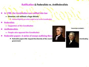 The Complete U.S. History Powerpoint on the Early American Gov't & Constitution