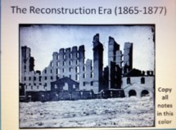 The Complete U.S. Reconstruction Era 1865-1877 Powerpoint Unit