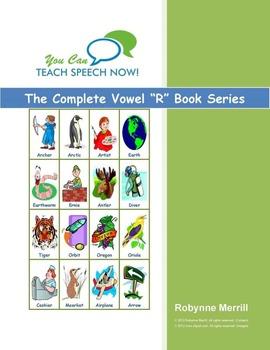Complete 6 Book Vowel+/R/ Series: Articulation and Language Workbooks
