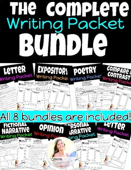 The Complete Writing Packet BUNDLE!!!