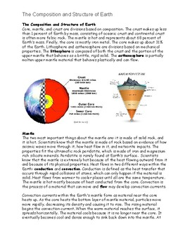 The Composition and Structure of Earth