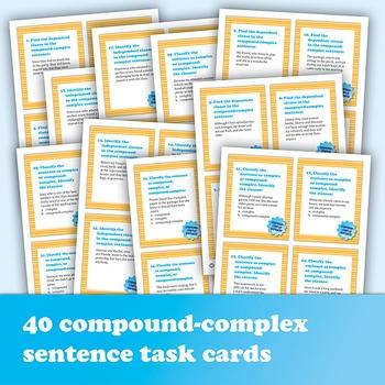 The Compound-Complex Sentence: 40 Task Cards Plus Grammar Posters
