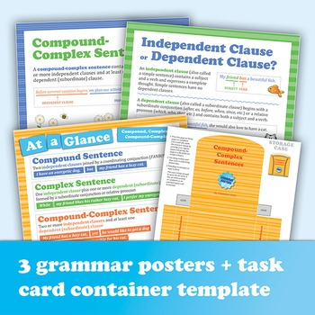 The Compound-Complex Sentence: 40 Task Cards Plus Grammar Posters