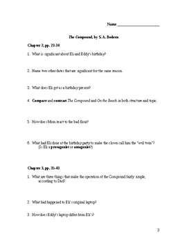 The Compound by S.A. Bodeen Study Guide