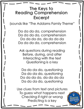 Comprehension Strategies Song Lyrics PPT