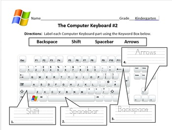 The computer keyboard practice writing by miss ramirez computer lab the computer keyboard practice writing ccuart Images