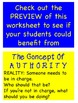 The Concept of Authority Worksheet (Helping kids behave)