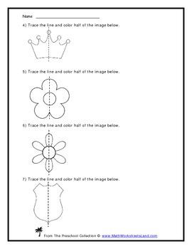 "The Concept of ""Half"" (Pre-Symmetry) Teacher Worksheet Pack"