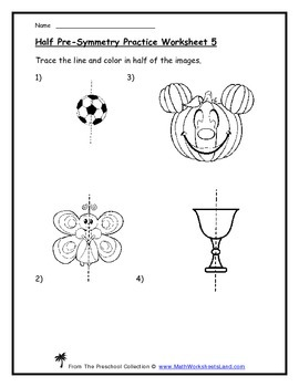 "The Concept of ""Half"" (Pre-Symmetry) Teacher Worksheet Pack"