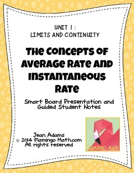 PreCalculus: Average Rate and Instantaneous Rate