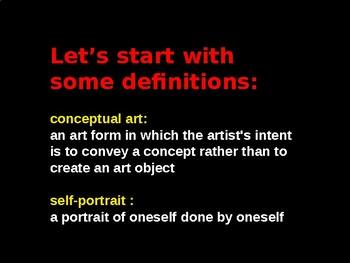 The Conceptual Self Portrait Project PowerPoint Introduction