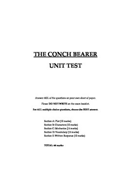 The Conch Bearer - Unit Test and Key