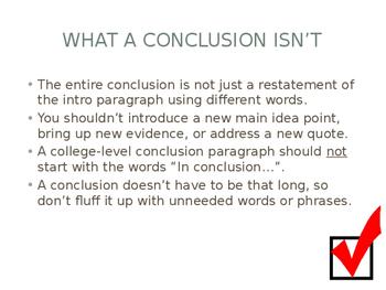 The Conclusion Paragraph