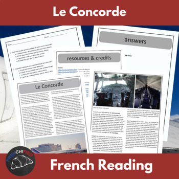 The Concorde - a reading for int/adv French learners
