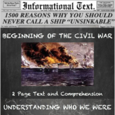 The Nullification Crisis and Beginning of the Civil War--Informational Text