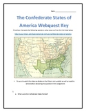 The Confederate States of America Webquest with Key