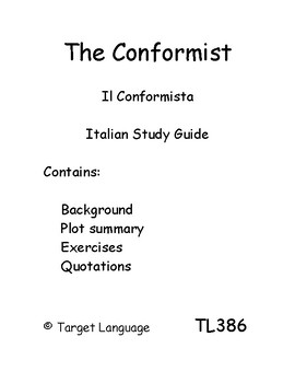 The Conformist-Italian Study Guide