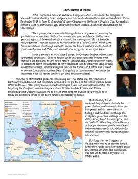 The Congress of Vienna Reading Analysis