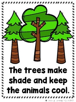 The Coniferous Forest  (2 Sight Word Readers, 2 Lap Books, & Animal Cards)