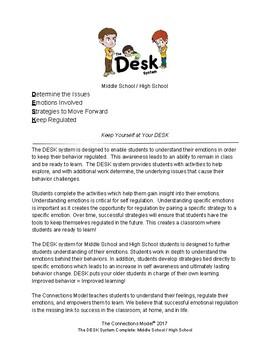 The DESK System Complete-Teach Emotional Regulation for Middle & High School